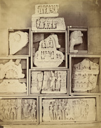 Buddhist sculpture pieces from Jamal-Garhi. 1003999
